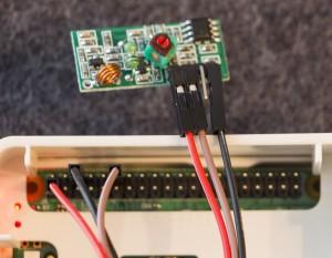 Anschluss 433MHz-Empfänger XY-MK-5V an Raspberry Pi